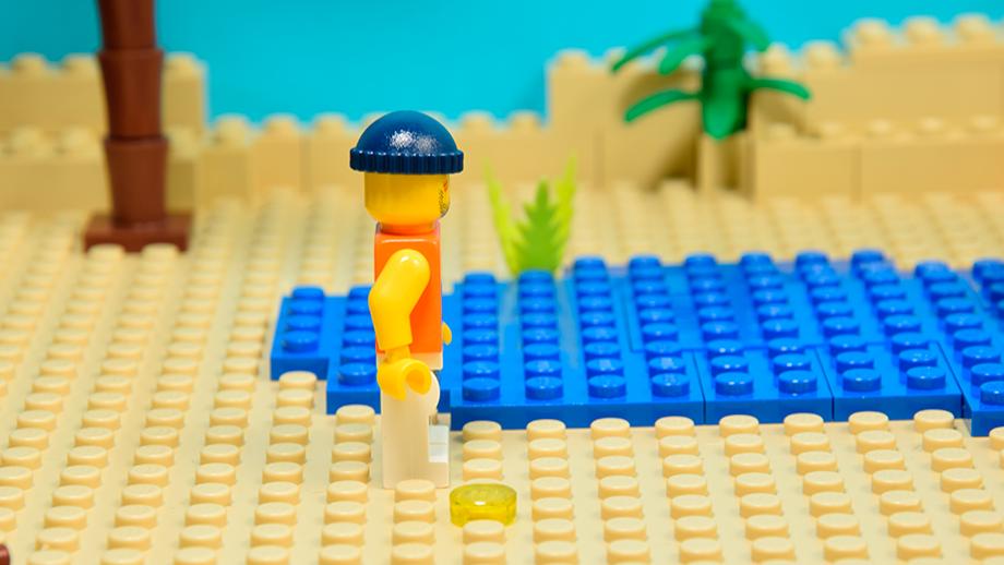 Animácia chôdze a behu Lego - video
