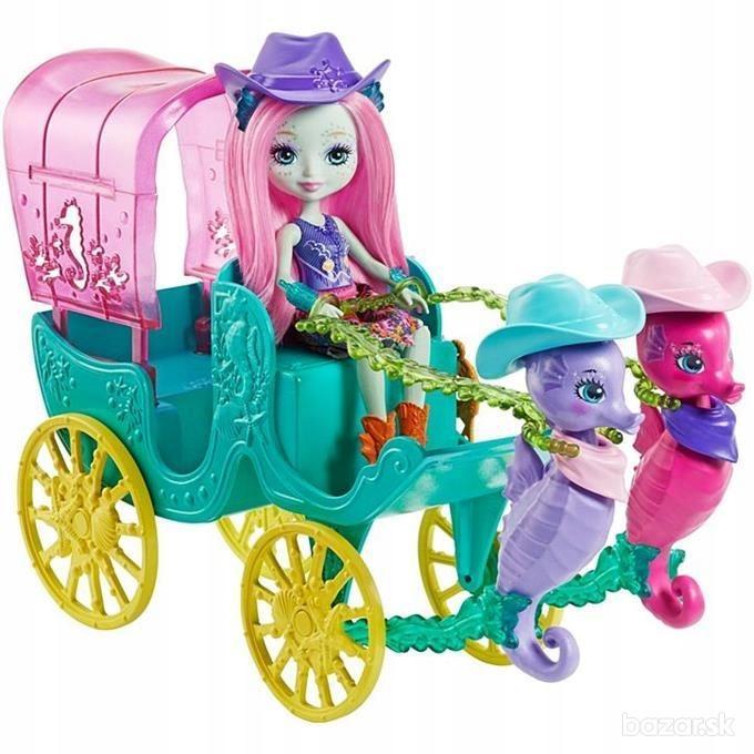 ENCHANTIMALS koč s bábikou a morské koníky
